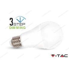 Lampadina led V-TAC A60 9W dimmerabile 3 step - attacco E27 - 6000k bianco freddo - VT-2011
