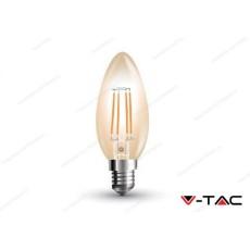 Lampadina led V-TAC a candela 4W tipo vintage - attacco E14 - 2200k bianco caldo - VT-1955