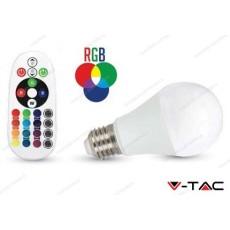 Lampadina led V-TAC A60 6W - attacco E27 - RGB e 3000k bianco caldo - VT-2022