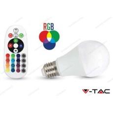 Lampadina led V-TAC A60 6W - attacco E27 - RGB e 6400k bianco freddo - VT-2022