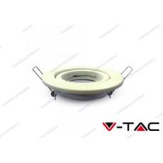 Portafaretto orientabile da incasso V-TAC VT-7227 rotondo bianco 99 mm