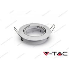 Portafaretto orientabile da incasso V-TAC VT-779 per faretti GU10 rotondo bianco 82 mm