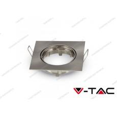 Portafaretto da incasso regolabile V-TAC VT-779 quadrato nichel satinato 82 x 82 x 22 mm