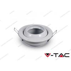Portafaretto da incasso cambio angolo V-TAC VT-780 rotondo bianco Ø100 mm