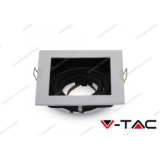 Portafaretto orientabile da incasso V-TAC VT-781 quadrato bianco 100 x 100 x 38 mm