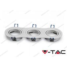 Portafaretto orientabile da incasso per 3 faretti V-TAC VT-784 rotondo bianco 255 x 91 x 25 mm