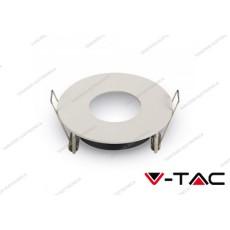 Portafaretto orientabile da incasso V-TAC VT-785 rotondo Ø75 mm matt bianco