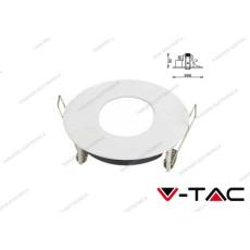 Portafaretto orientabile da incasso V-TAC VT-785 ovale Ø75 mm matt bianco