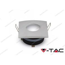 Portafaretto da incasso quadrato V-TAC VT-787 matt bianco 84 x 84 x 38 mm