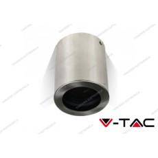 Portafaretto orientabile V-TAC VT-796 rotondo nichel satinato 142 x 100 mm