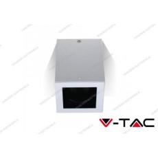Portafaretto orientabile V-TAC VT-797 quadrato bianco 142 x 100 x 100 mm