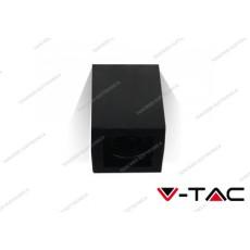 Portafaretto orientabile V-TAC VT-797 quadrato nero 142 x 100 x 100 mm