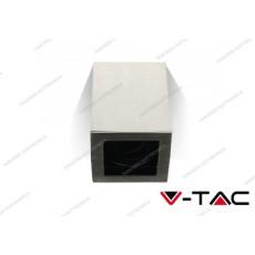 Portafaretto orientabile V-TAC VT-797 quadrato nichel satinato 142 x 100 x 100 mm