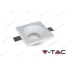 Portafaretto da incasso in gesso V-TAC VT-776 quadrato 120 x 120 x 40 mm bianco