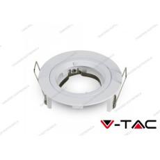 Portafaretto da incasso V-TAC VT-774 per faretti GU10/GU 5.3 rotondo Φ81 x 34 mm bianco