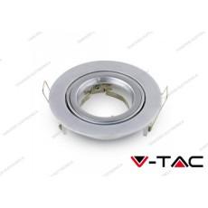 Portafaretto orientabile da incasso V-TAC VT-775 rotondo grigio argento Φ95 x 32 mm