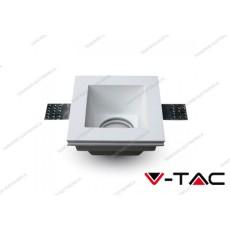 Portafaretto da incasso in gesso V-TAC VT-763 quadrato bianco 120 x 120 mm