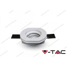 Portafaretto da incasso in gesso V-TAC VT-764 rotondo bianco Ф100