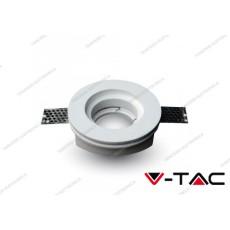 Portafaretto da incasso in gesso V-TAC VT-771 rotondo bianco Ф103