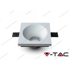 Portafaretto da incasso V-TAC VT-772 quadrato in gesso bianco 121 x 121 mm