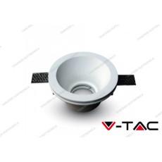 Portafaretto da incasso V-TAC VT-773 rotondo in gesso bianco Ф132