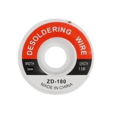 Treccia dissaldante ZD-180 1,5mt - larghezza 3,0mm